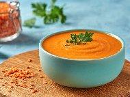 Турска крем супа от червена леща, ориз и булгур
